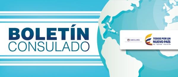 Boletín informativo de agosto del Consulado de Colombia en París