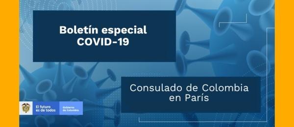Boletín especial sobre COVID-19