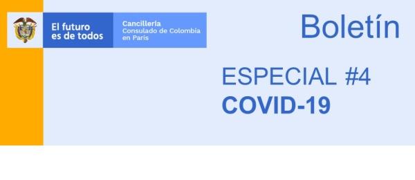 Consulado de Colombia en París atenderá únicamente trámites de emergencia, con cita y previa solicitud a partir del martes 17 de marzo