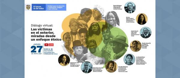 El Consulado de Colombia en París invita al diálogo virtual 'Las víctimas en el exterior, miradas desde un enfoque étnico', el 27 de mayo de 2021