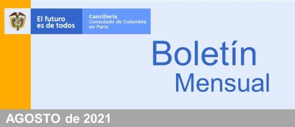 El Consulado de Colombia en París presenta el boletín mensual de agosto