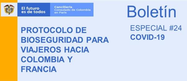 El Consulado de Colombia en París publica el Boletín Especial COVID-19