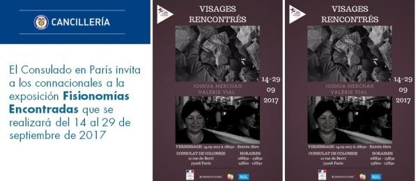El Consulado en París invita a los connacionales a la exposición Fisionomías Encontradas que se realizará del 14 al 29 de septiembre