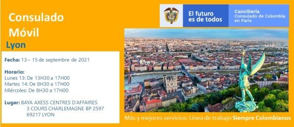 El Consulado Móvil se realizará en la ciudad de Lyon del 13 al 15 de septiembre