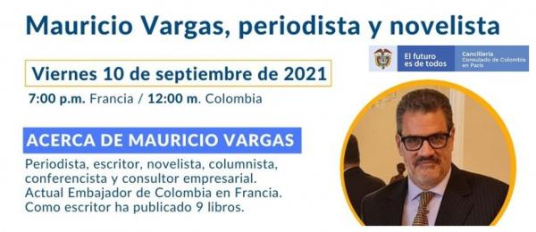 El viernes 10 de septiembre se realizará la charla el periodista Mauricio Vargas