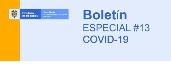Boletín especial COVID-19 No. 13: Se aprobó para el 30 de abril de 2020 un vuelo con carácter humanitario París - Bogotá para colombianos