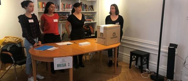 Inició la jornada electoral presidencial 2018 para la segunda vuelta en el Consulado de Colombia en París