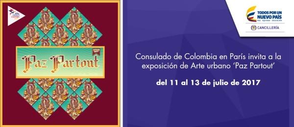 Consulado de Colombia en París invita a la exposición de Arte urbano 'Paz Partout'